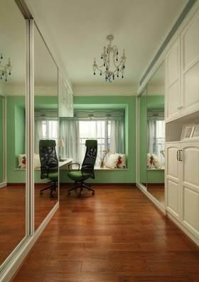 清新绿色简欧风格飘窗设计欣赏