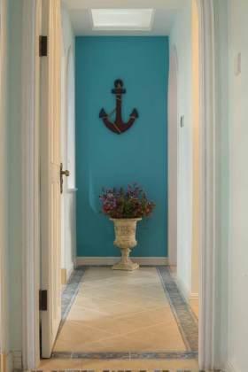 蓝色地中海式过道装饰