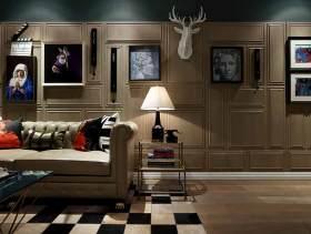 时尚简欧风创意立体背景墙设计