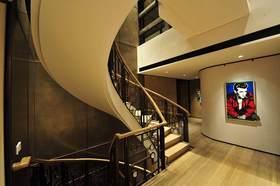 现代工业风楼梯设计整体效果图