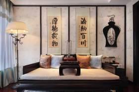 雅致大方中式背景墙装饰效果图