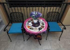 休闲美式阳台装饰布置