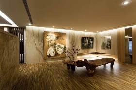 艺术个性新中式背景墙大气装潢