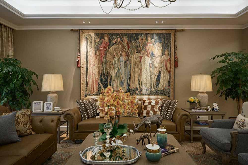 2016浪漫精致欧式客厅装饰效果图
