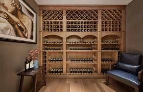 美式风格酒柜布置展示