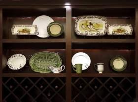 美式风格展示柜在装修效果欣赏