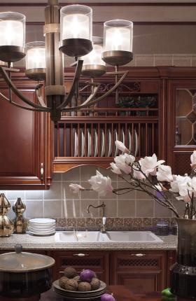 2016中式风格厨房装修效果图欣赏