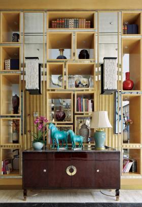 中式风格收纳展示柜装修设计
