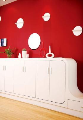 2016现代时尚红色背景墙设计