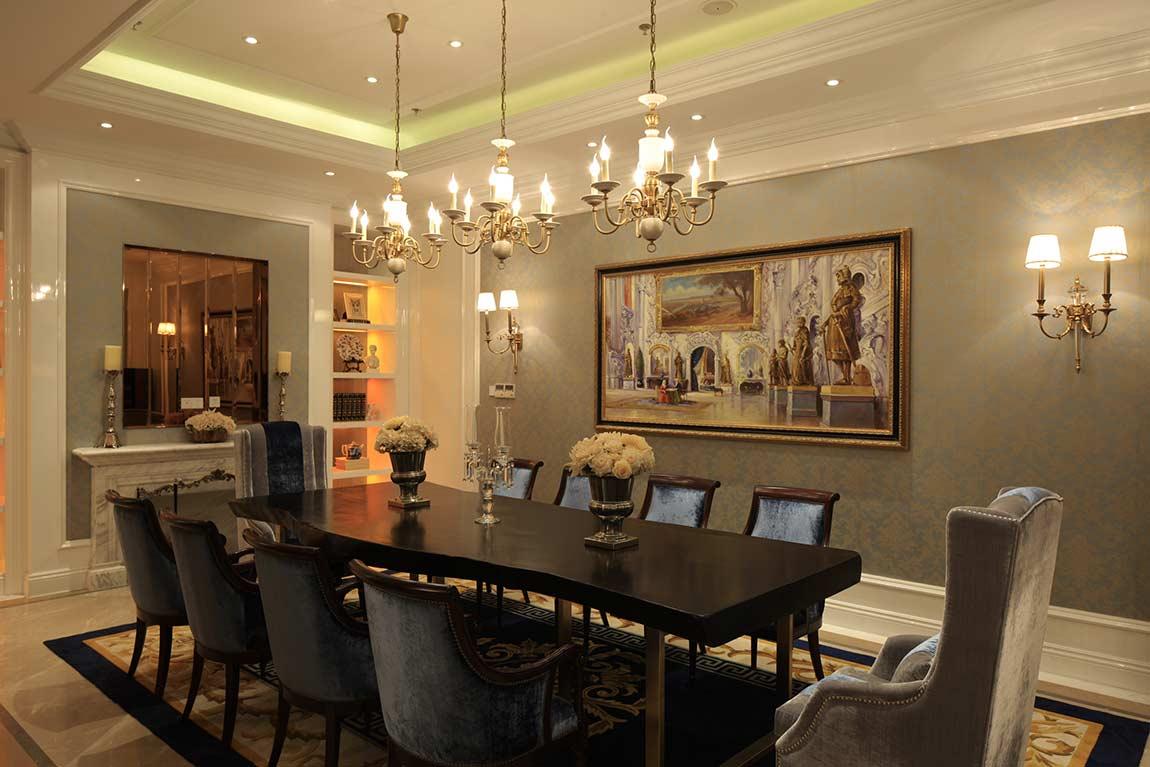装修美图 欧式典雅餐厅装修效果图片  免费户型设计 3家优质装修公司