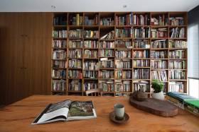 古朴实用简约风格收纳书柜设计