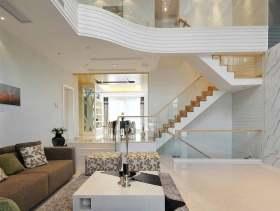 大气典雅现代风格复式楼梯设计图