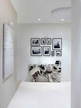 经典黑白简约照片墙装饰效果