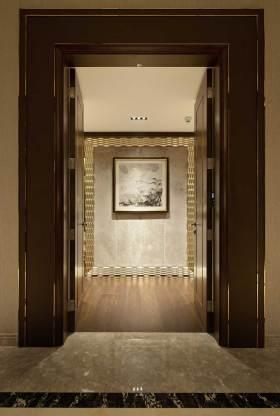 华丽复古简欧风格玄关墙面设计