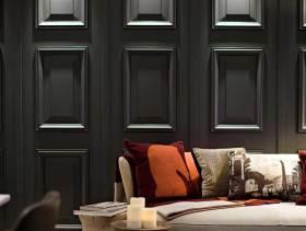 灰色简欧风格客厅沙发背景墙设计