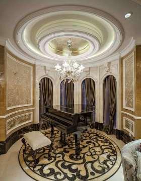 华丽时髦欧式琴房效果图