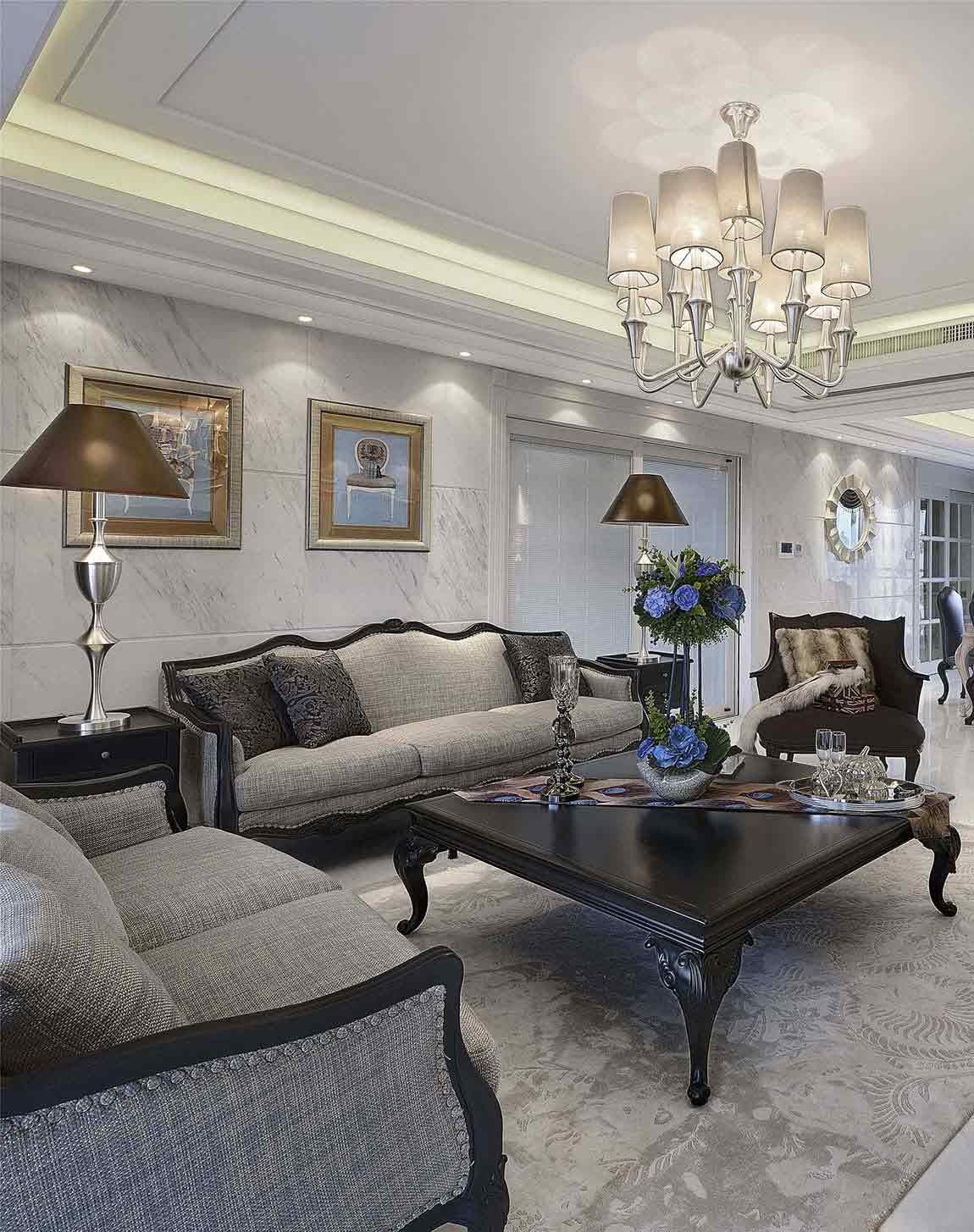 大气典雅欧式风格客厅设计图