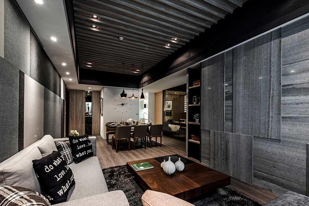 摩登现代风格客厅装修效果图