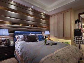华丽金色欧式卧室设计图