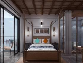 新中式风格素雅温馨卧室设计图片