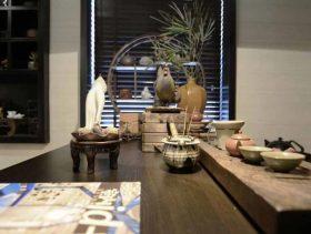 素雅中式风格餐厅细节装饰