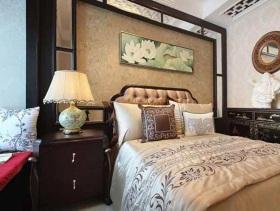 精致典雅混搭新中式风格卧室布置设计