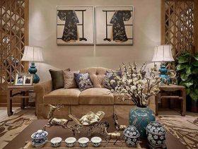优雅中式田园气质客厅温馨布置