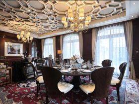 2016精致奢华欧式餐厅设计图片