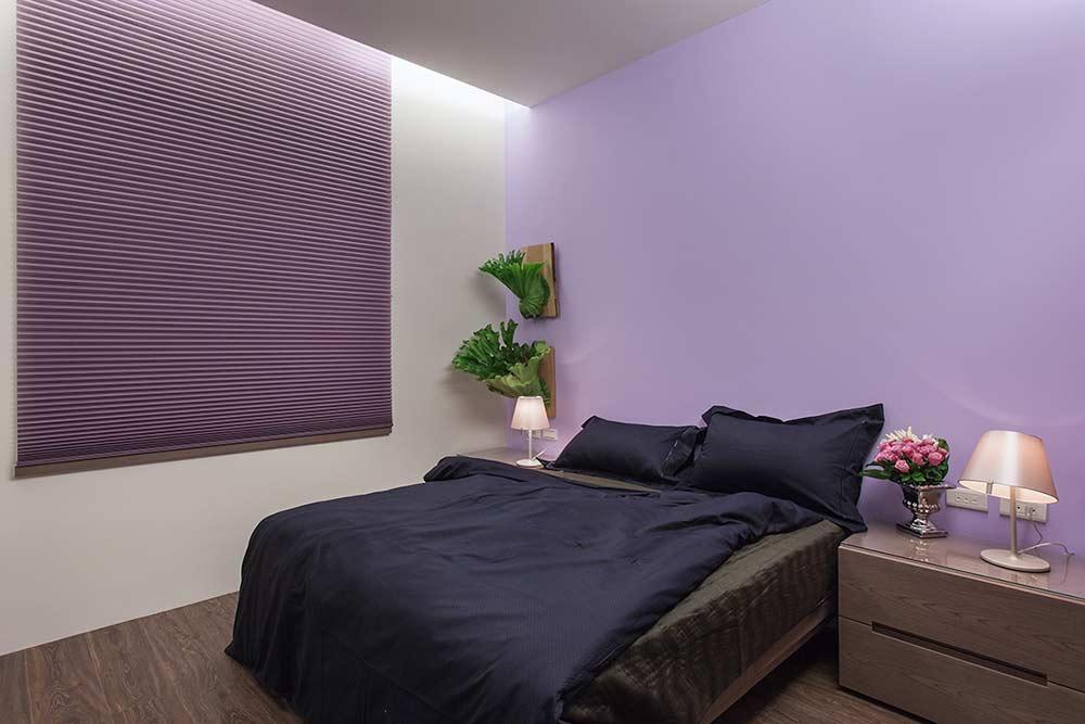 2016梦幻紫色系简约风格卧室装修