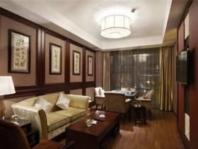 中式古典二居室客厅装潢设计