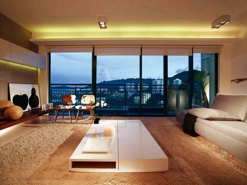 都市现代风格三居室客厅装修案例欣赏
