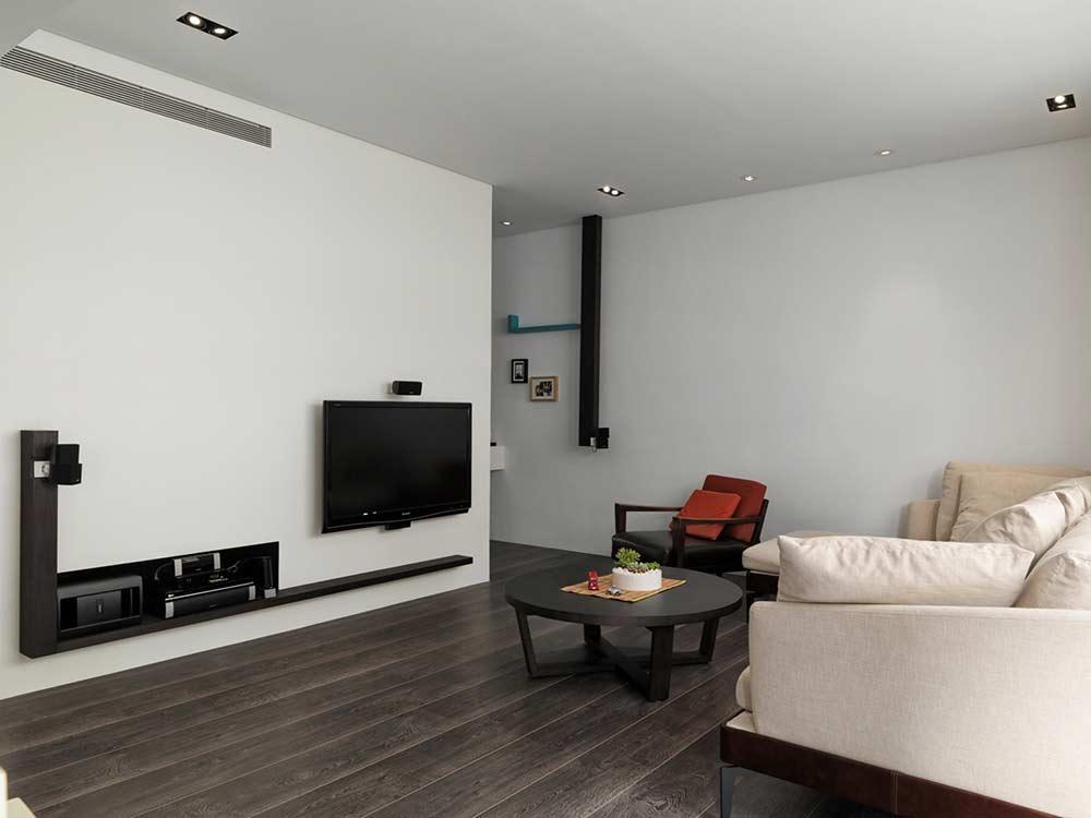 高端品味素雅简约客厅装潢设计-兔狗装修效果图