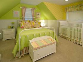 温馨清爽欧式风格家装儿童房设计