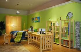 自然素材清新简约风书房布置装潢