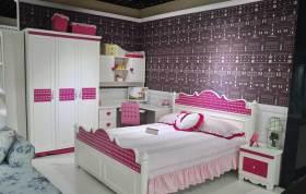 紫色浪漫公主系欧式儿童房设计图片