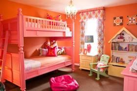 亮丽欧式儿童房设计效果图片