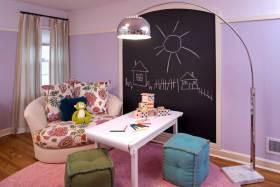 2016清新紫色系欧式儿童房创意装饰