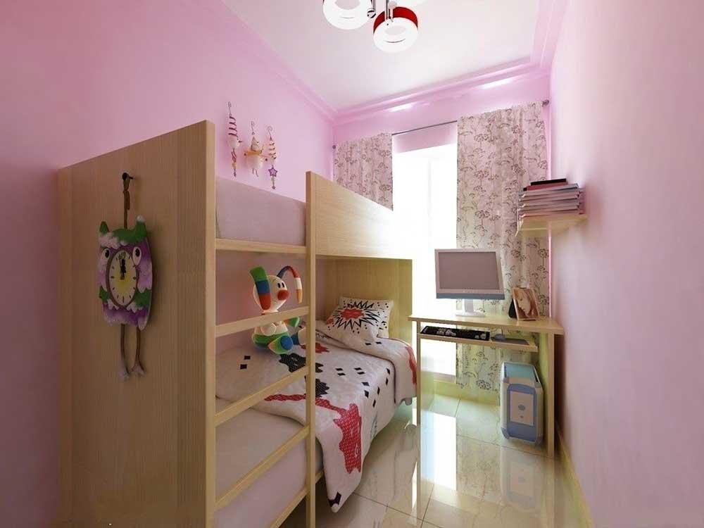 簡約布置兒童房設計效果圖