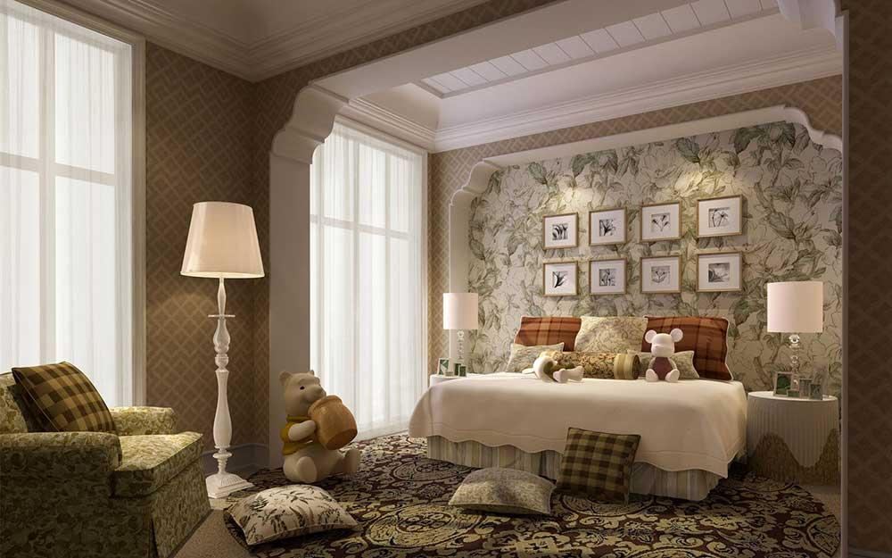 经典欧式设计卧室温馨装潢