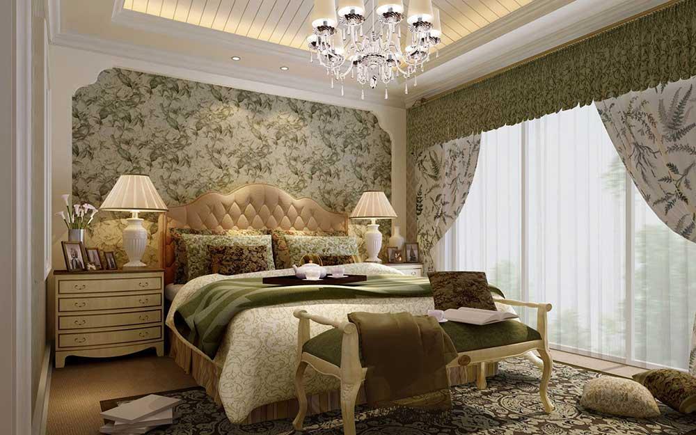 2016精致典雅欧式风格卧室复古装潢