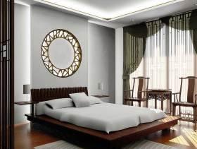 时尚新中式元素卧室装修效果展示