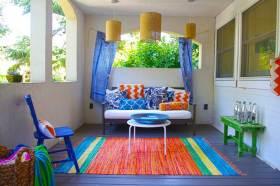 温馨彩色简约风格阳台布置装潢