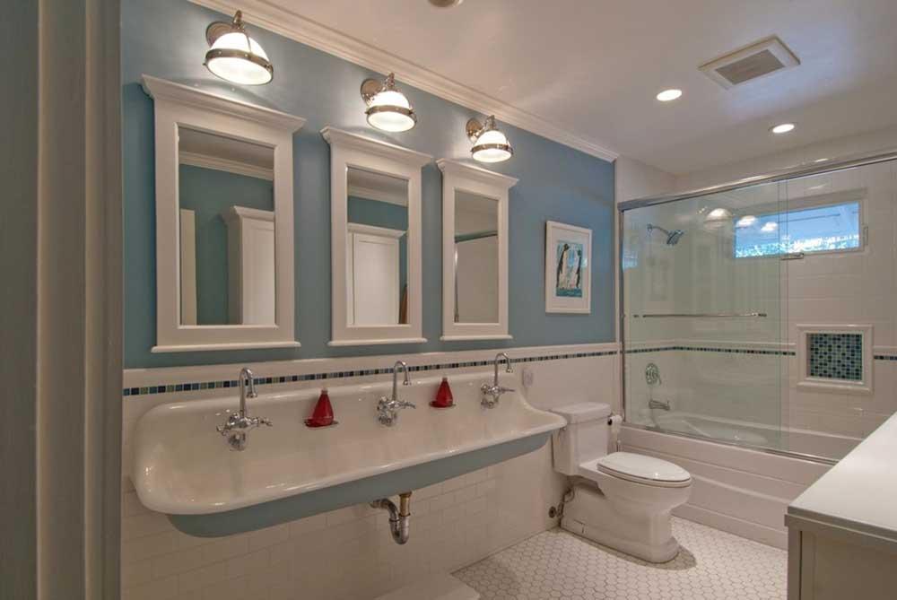 柔和色调清新欧式卫生间设计图片