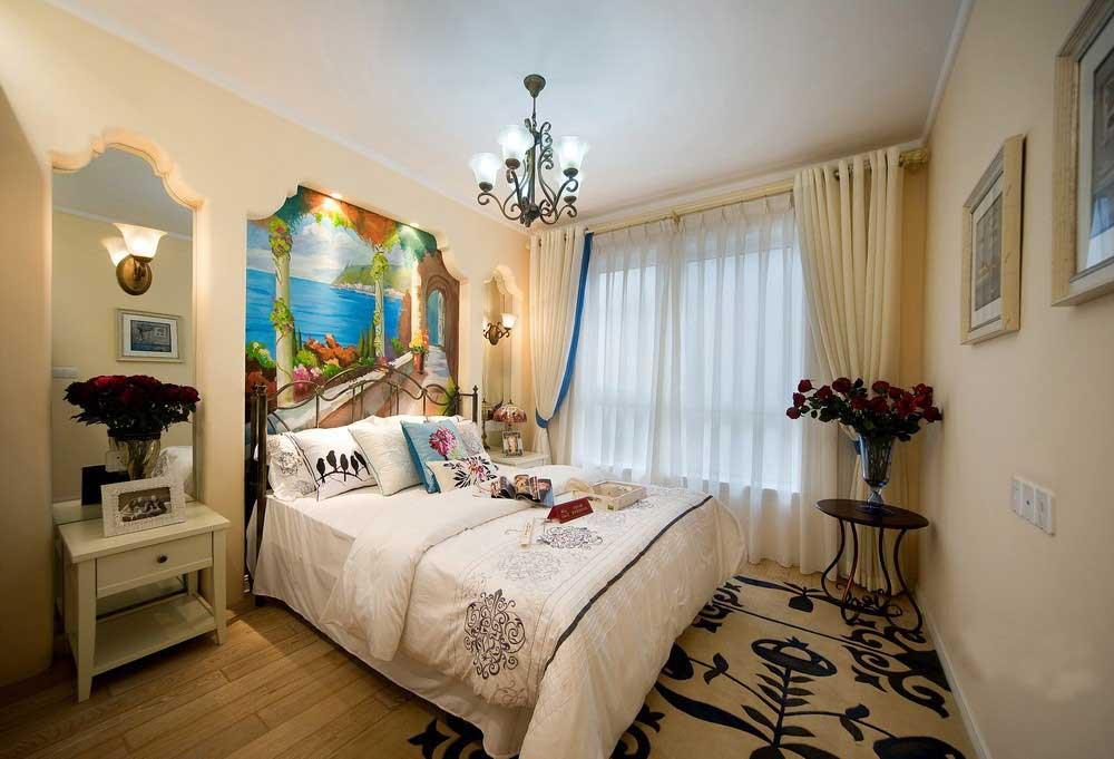 精致复古元素欧式卧室浪漫布置