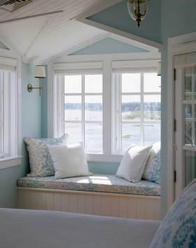 唯美典雅美式风格飘窗布置装修