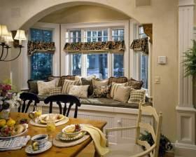高贵精致田园风格飘窗装饰设计图片