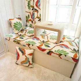 自然元素简约风格飘窗温馨装饰布置