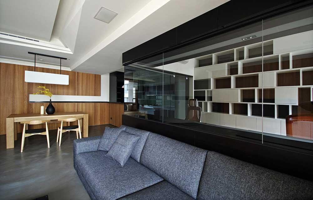 高端大气现代风格客厅装修布置