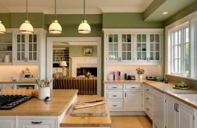 清爽美式乡村风厨房设计图片