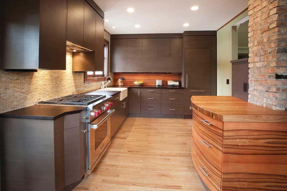 現代工業質感廚房設計